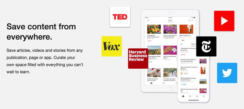 content curation tools - pocket