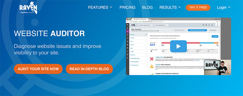 content automation for seo - raven tools website auditor