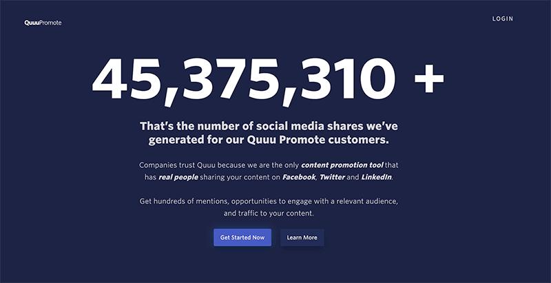 quuu promote - content amplification