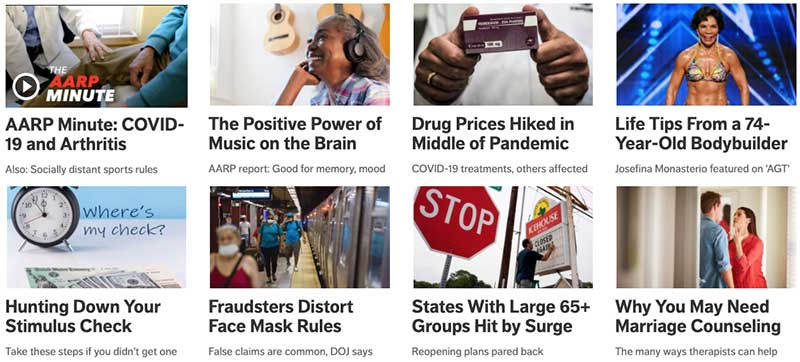 AARP - content marketing strategy examples