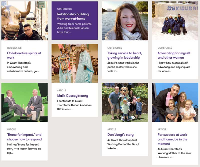 Grant Thornton - content marketing strategy examples