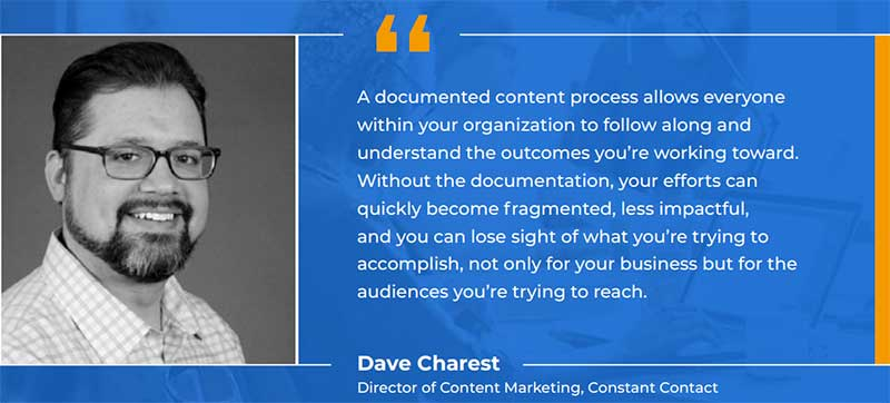 Dave Charest - documented content process