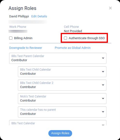 edit team member - enable sso